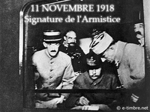 Signing the Armistice in Foch's railcar