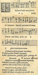 Personent Hodie in the 1582 edition of Piae Cantiones