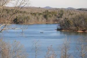 Lake Sydney Lanier built in the 1950's by damning the Chattahoochee River between Atlanta and Gainesville.