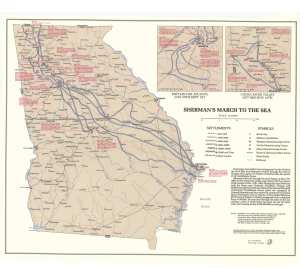 sherman's march map