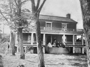 The McLean family on their front porch.