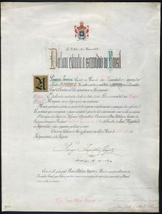 Lei Aurea (Golden Law) signed by Emperor Dom PedroII in 1888 freeing Brazil's slaves