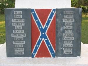 Names of original Confederado families on memorial