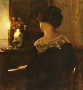 A Lady Playing The Piano
