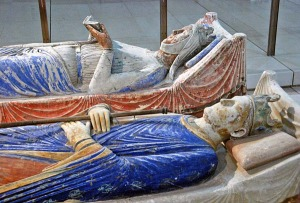 Tombs of Henry II & Eleanor of Aquitaine at Fontevraud Abbey