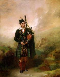 Angus MacKay of Clam MacKay in traditional Highland dress