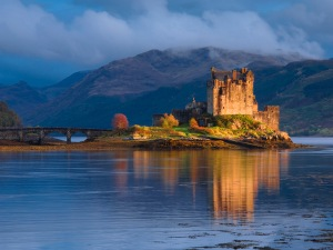 Highland, Scotland, UK --- Dornie, view of the castle, Eilean Donan Castle --- Image by © Olimpio Fantuz/SOPA/Corbis