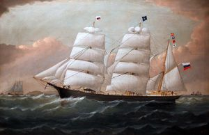 The Barque Onni, by W. H. Yorke, 1883