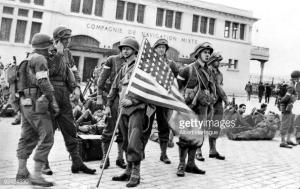 American troops on a Casablanca street.