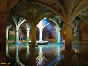 Interior view of the old Portuguese Cistern at El Jadida