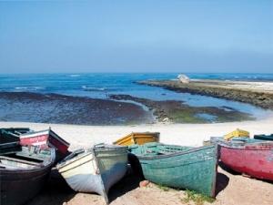 Boats on El Jadida beach