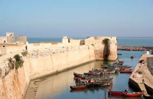 Old Portuguese fortress at El Jadida, Morocco