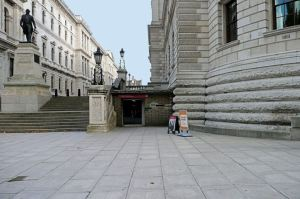 How the entrance to the War Rooms looked when we visited.