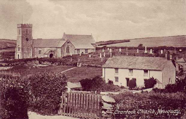 Cornwall, Crantock, St Carantoc's Church 1920's