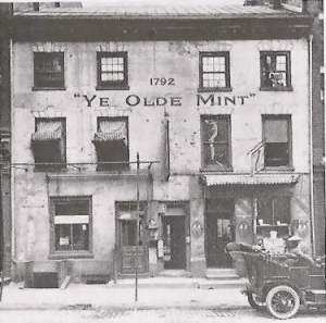 The first Philadelphia Mint, 1792, since torn down