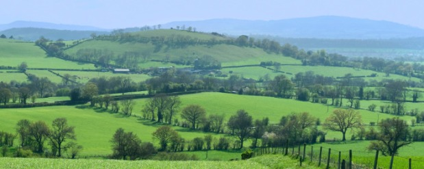 shropshire hills countryside
