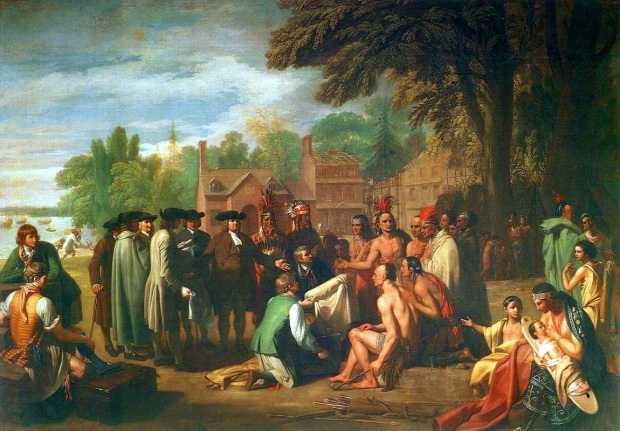 The Simple Story—The Treaty of Penn With the Indians by Benjamin West , 1771