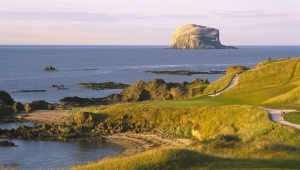 Scotland N Berwick Bass rock and Glen View Golf Course _1053836051