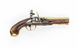 Flintlock pistol in the collection of Skokloster Castle