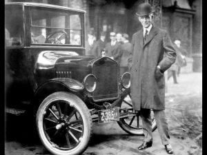 Henry Ford and his Model T, 1912