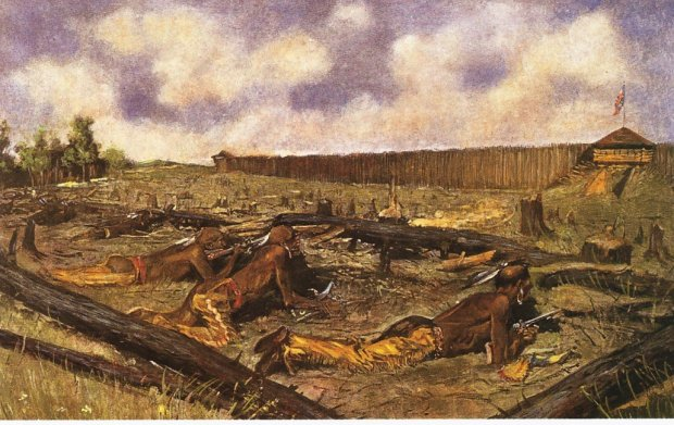 Pontiac's Seige of Detroit, by Frederick Remington