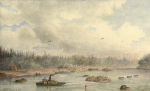 Red River Expedition at Sault Ste. Marie, William Armstrong 1870 via Wikimedia Commons