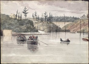Rideau Canal 1838, by Philip John Bainbridge