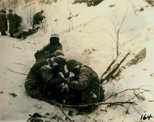 Marines Heating Rations Near Koto-Ri