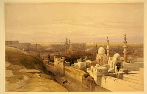Cairo from the east, 1845, by David Roberts