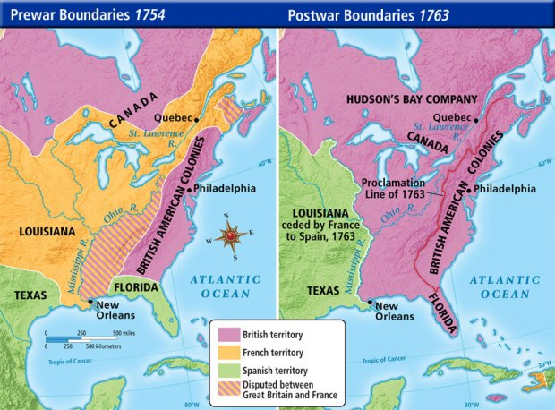pre and ppsot french and indian war map