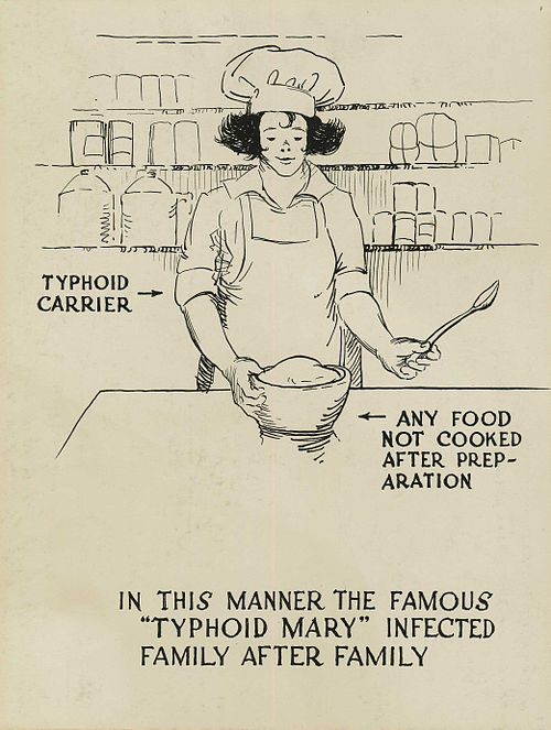 500px-Typhoid_carrier_polluting_food_-_a_poster
