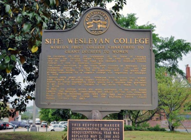 wesleyan historical marker