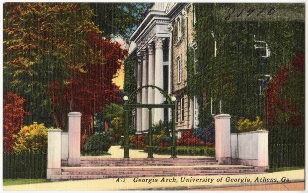 U-Georgia arch postcard